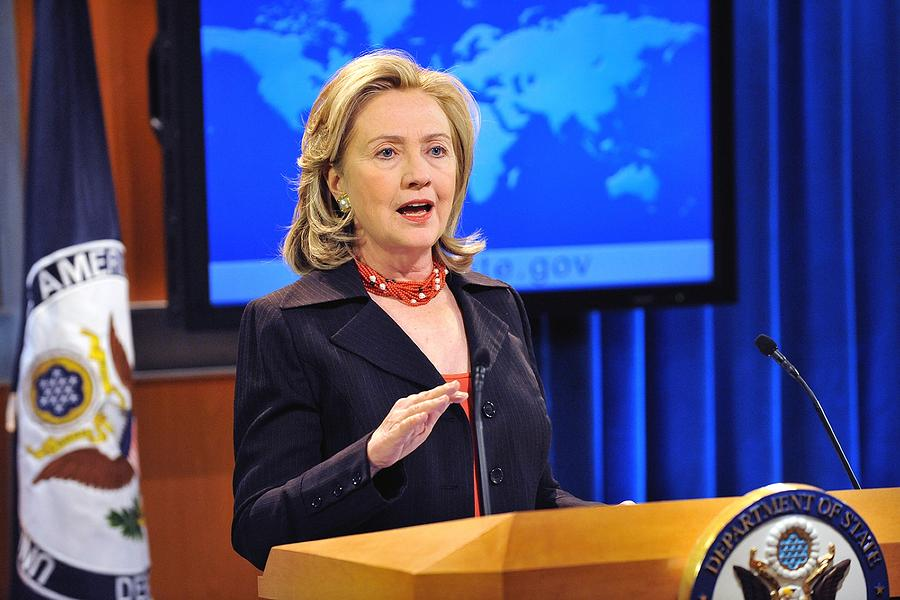 History Photograph - Hillary Clinton Speaking by Everett