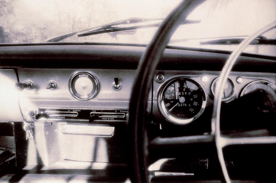 Hillman Minx Dashboard. Borderless Photograph  - Hillman Minx Dashboard. Borderless Fine Art Print
