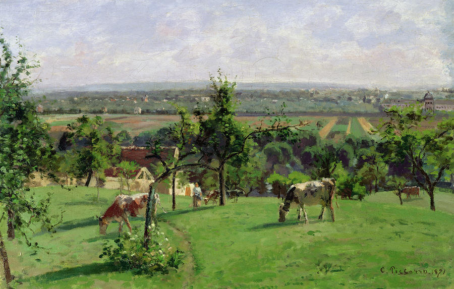 Hillside Of Vesinet Painting