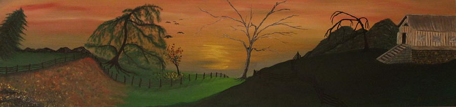 Oil Painting - Hillside by Shadrach Ensor