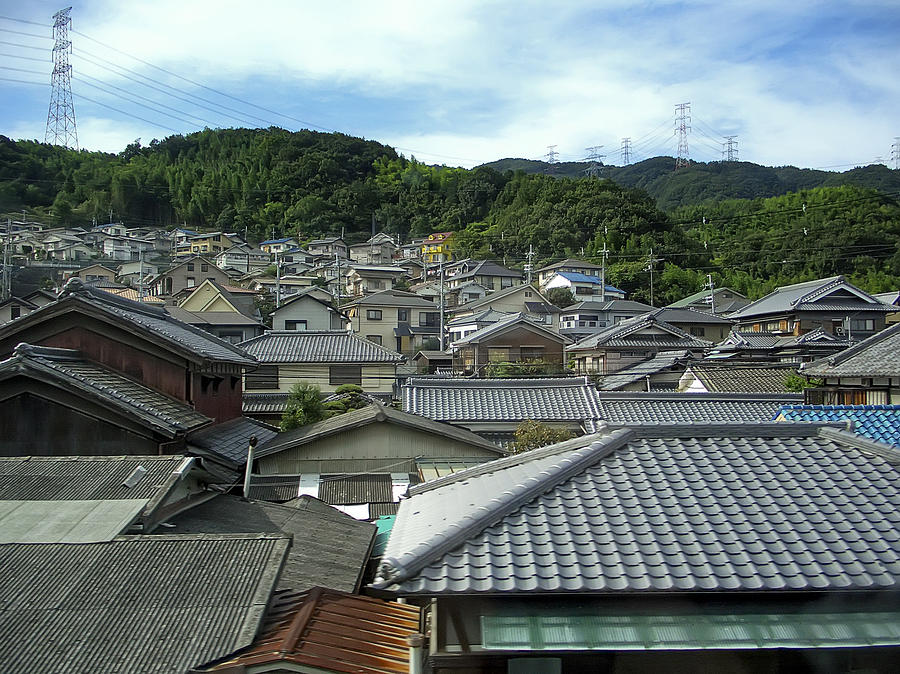 japan Town Photograph - Hillside Village In Japan by Daniel Hagerman