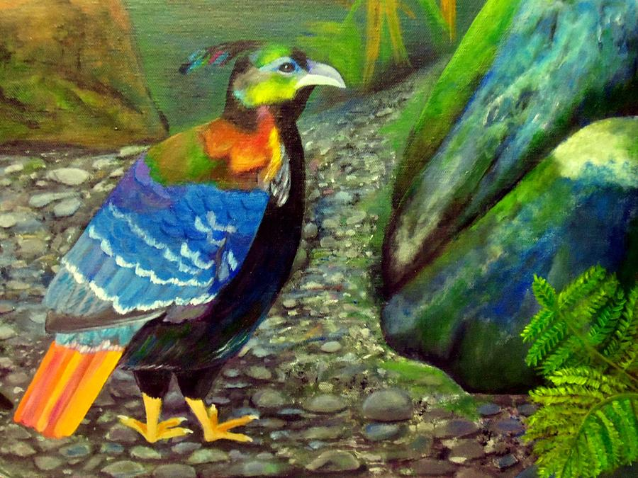 Himalayan Monal Pheasant Painting  - Himalayan Monal Pheasant Fine Art Print