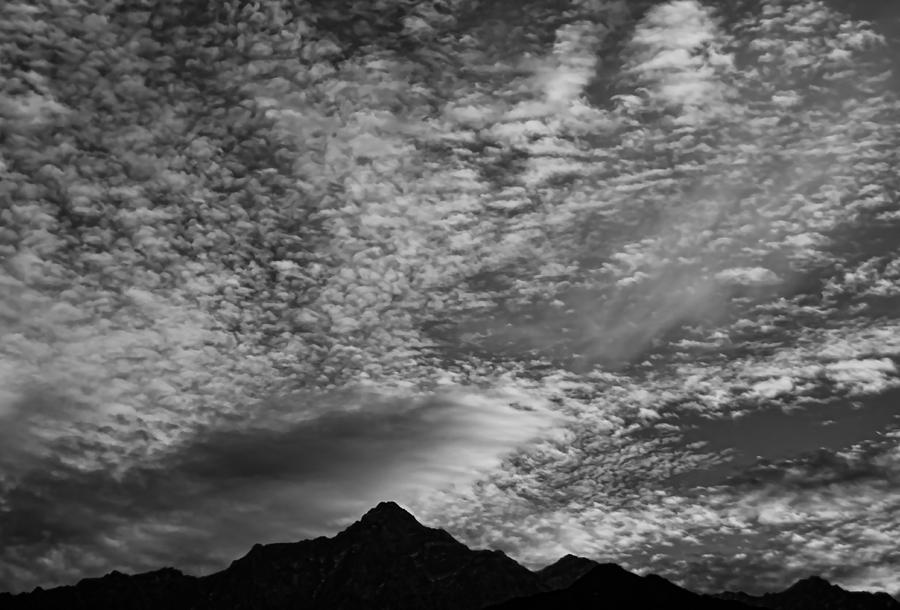 Himalayan Sky In Black And White Photograph