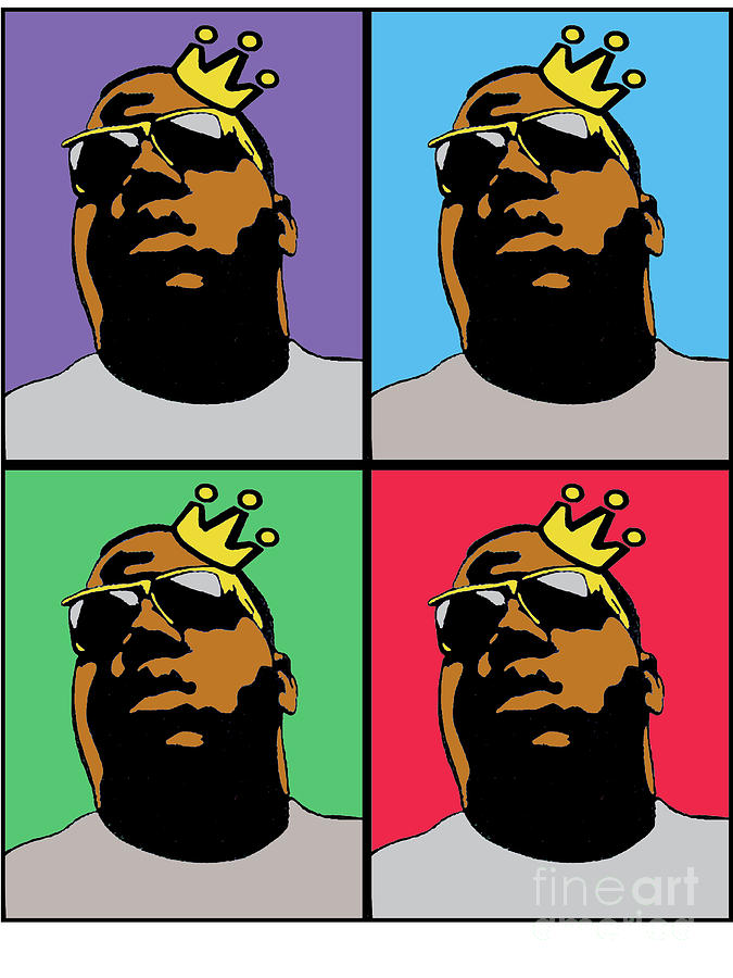 Hip Hop Icons The Notorious Big Digital Art  - Hip Hop Icons The Notorious Big Fine Art Print