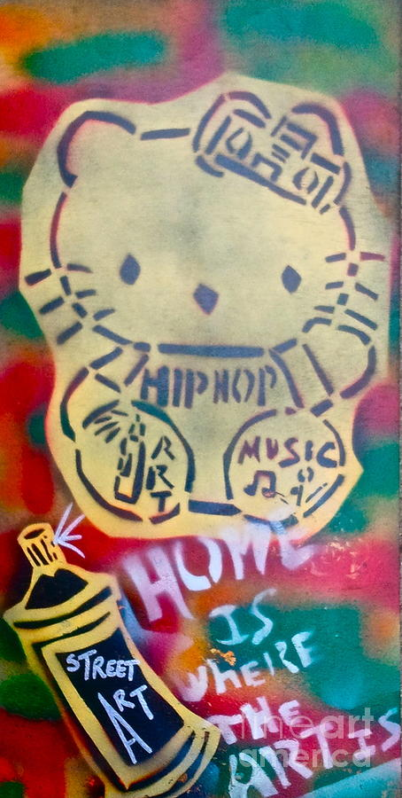 Hip Hop Kitty Painting  - Hip Hop Kitty Fine Art Print