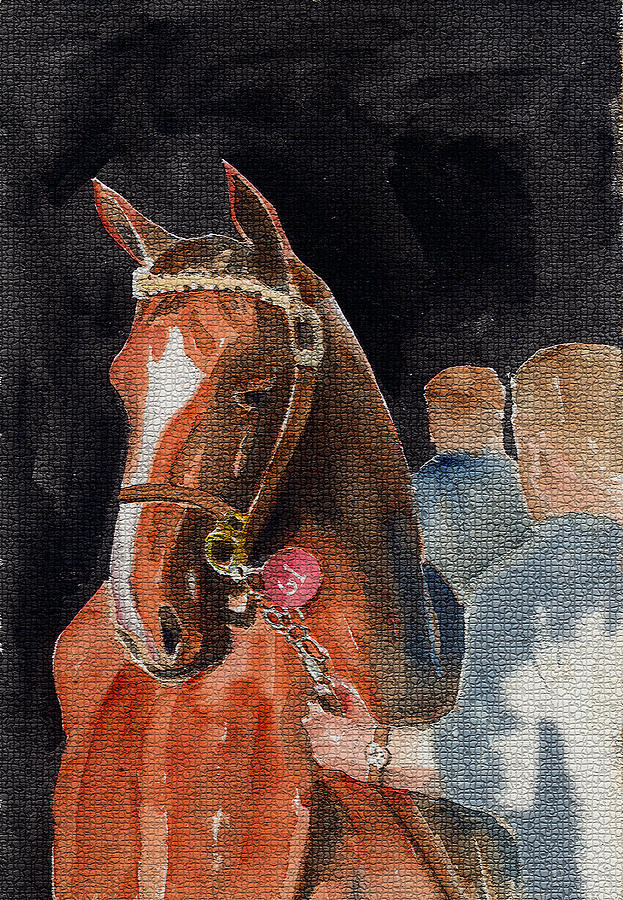 Hip No. 61 Chestnut Colt Mixed Media  - Hip No. 61 Chestnut Colt Fine Art Print