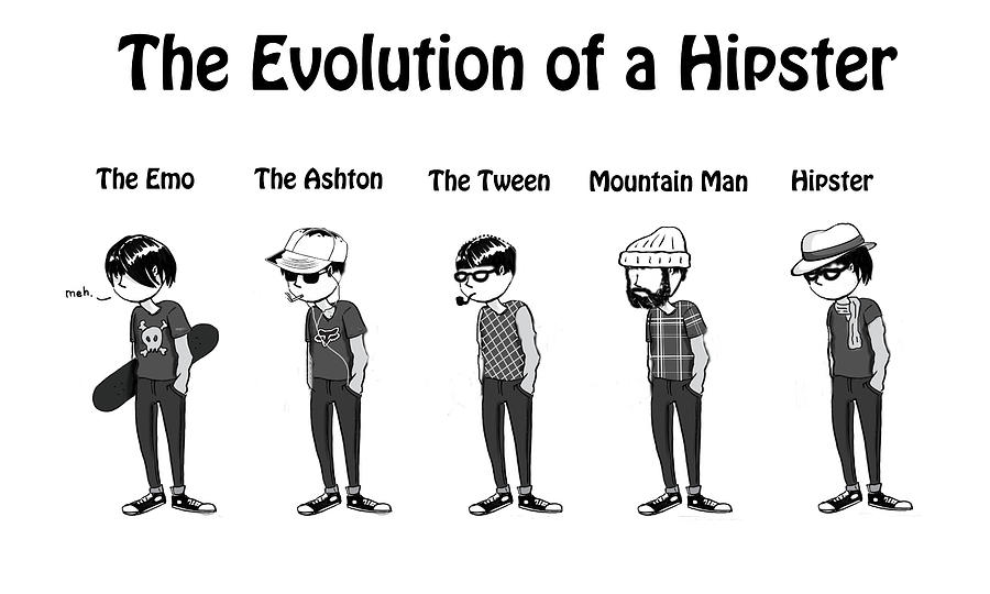 Hipster Evolution Digital Art  - Hipster Evolution Fine Art Print