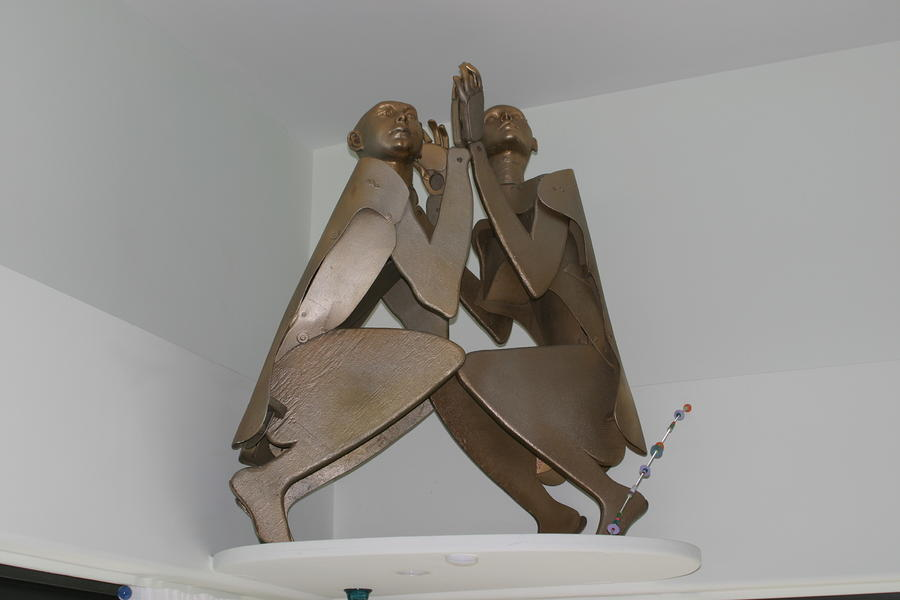 His And Hers Sculpture  - His And Hers Fine Art Print