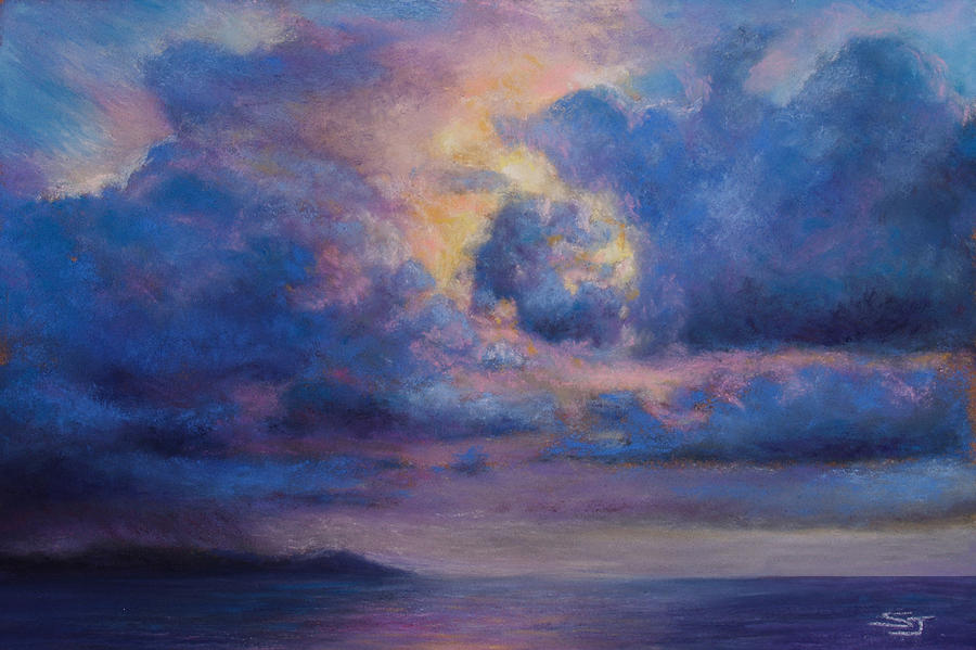 His Glory Pastel  - His Glory Fine Art Print