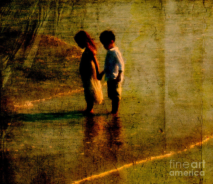 His Kindergarten Sweetheart Photograph  - His Kindergarten Sweetheart Fine Art Print