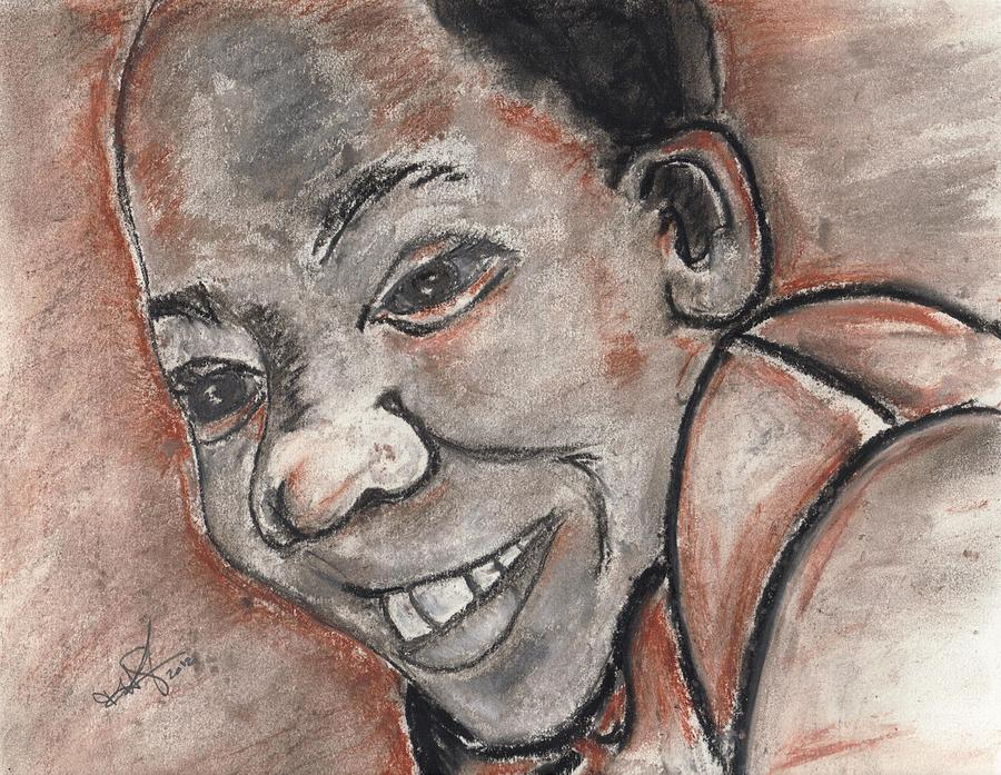 Boy Pastel - His Smile by Theresa Johnson