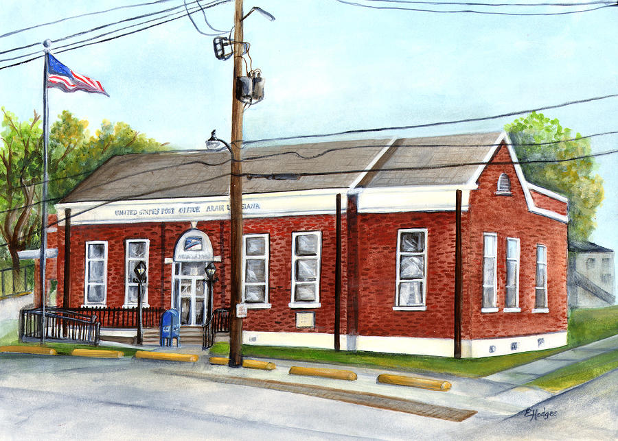 Historic District Post Office Painting