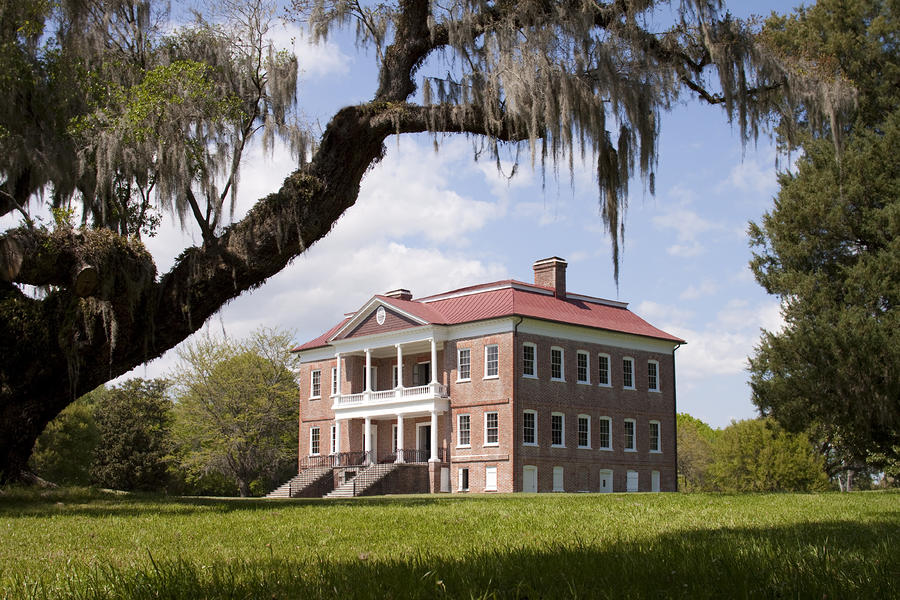 Historic Drayton Hall In Charleston South Carolina Photograph