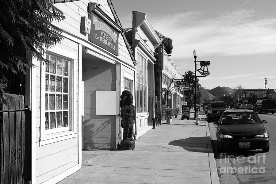 Historic Niles District In California Near Fremont . Devils Workshop And Mercantile . 7d10663 . Bw Photograph  - Historic Niles District In California Near Fremont . Devils Workshop And Mercantile . 7d10663 . Bw Fine Art Print