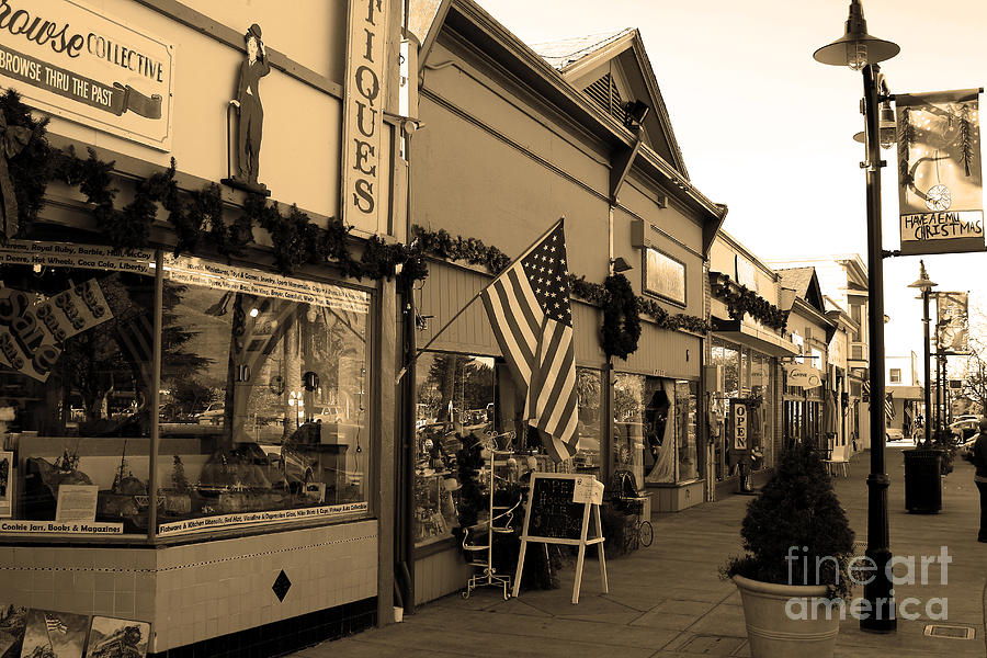 Historic Niles District In California Near Fremont . Main Street . Niles Boulevard . 7d10701 . Sepia Photograph  - Historic Niles District In California Near Fremont . Main Street . Niles Boulevard . 7d10701 . Sepia Fine Art Print