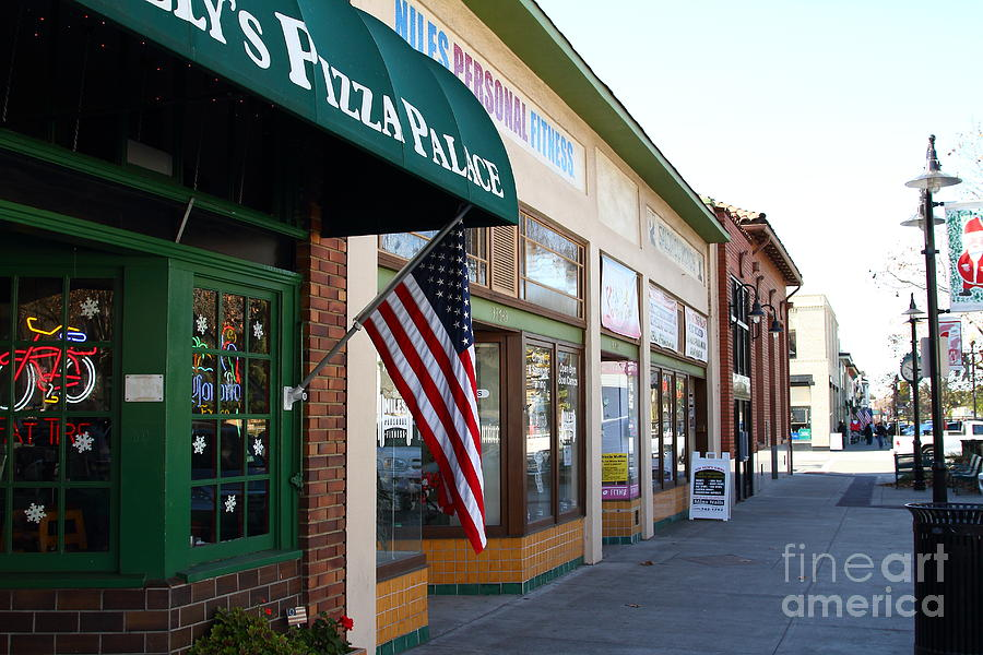 Historic Niles District In California Near Fremont . Main Street . Niles Boulevard . 7d10706 Photograph  - Historic Niles District In California Near Fremont . Main Street . Niles Boulevard . 7d10706 Fine Art Print