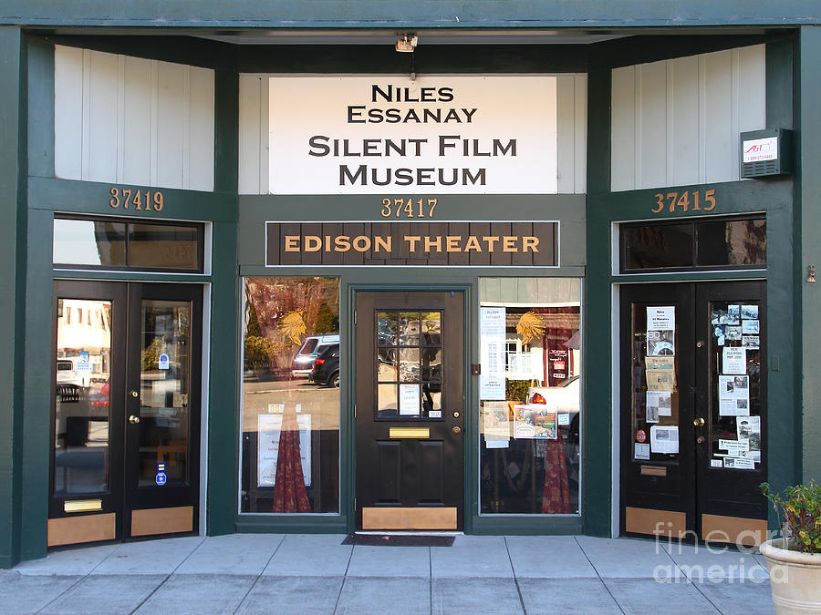 Historic Niles District In California Near Fremont . Niles Essanay Silent Film Museum Edison Theater Photograph