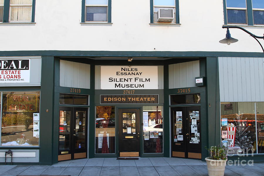 Historic Niles District In California Near Fremont . Niles Essanay Silent Film Museum.edison Theater Photograph