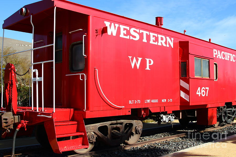 Historic Niles District In California Near Fremont . Western Pacific Caboose Train . 7d10627 Photograph  - Historic Niles District In California Near Fremont . Western Pacific Caboose Train . 7d10627 Fine Art Print