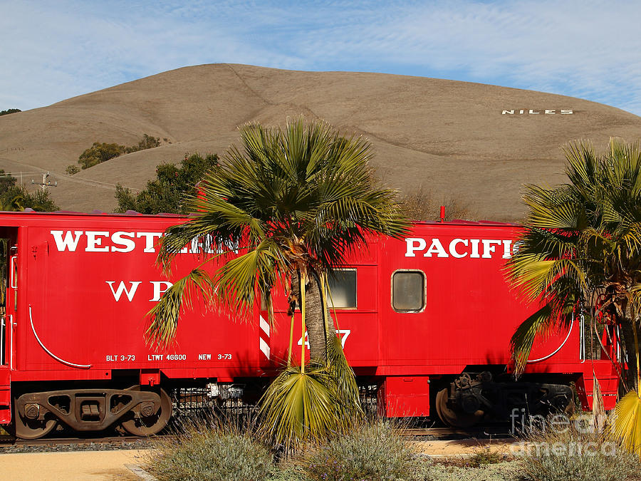 Historic Niles District In California Near Fremont . Western Pacific Caboose Train . 7d10718 Photograph  - Historic Niles District In California Near Fremont . Western Pacific Caboose Train . 7d10718 Fine Art Print