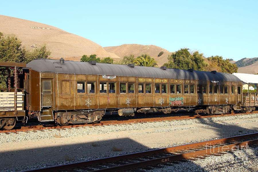 Historic Niles Trains In California . Old Western Pacific Passenger Train . 7d10836 Photograph  - Historic Niles Trains In California . Old Western Pacific Passenger Train . 7d10836 Fine Art Print