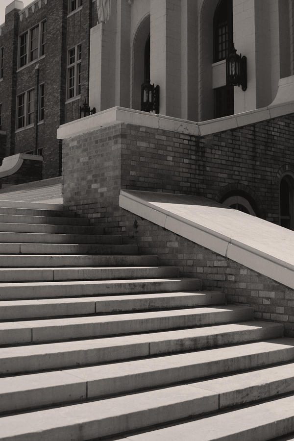 Historic Steps Little Rock Central High School Photograph  - Historic Steps Little Rock Central High School Fine Art Print