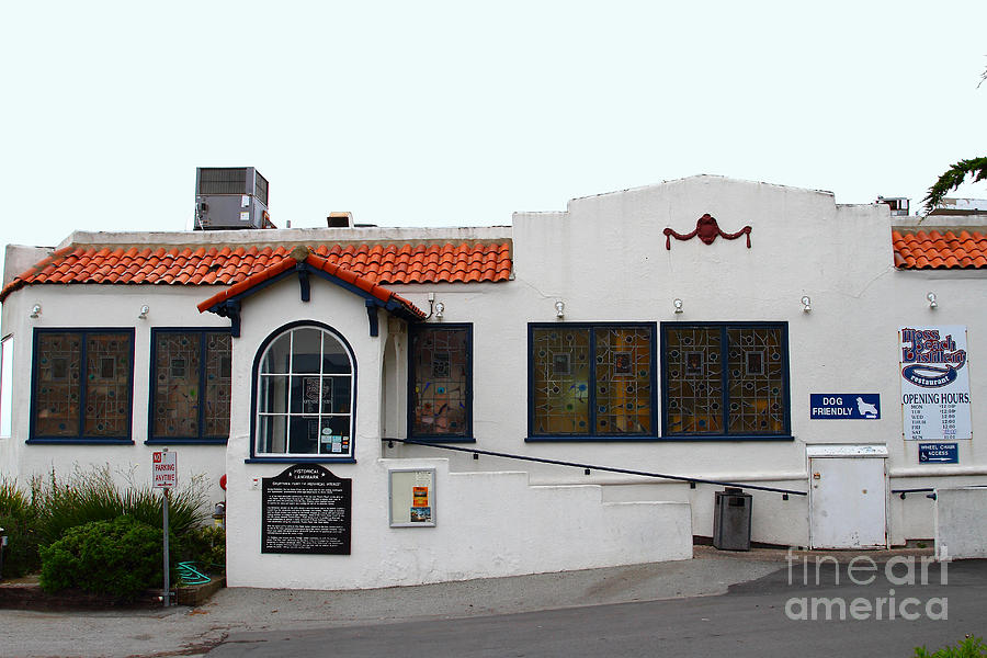 Historical Moss Beach Distillery At Half Moon Bay . 7d8172 Photograph  - Historical Moss Beach Distillery At Half Moon Bay . 7d8172 Fine Art Print