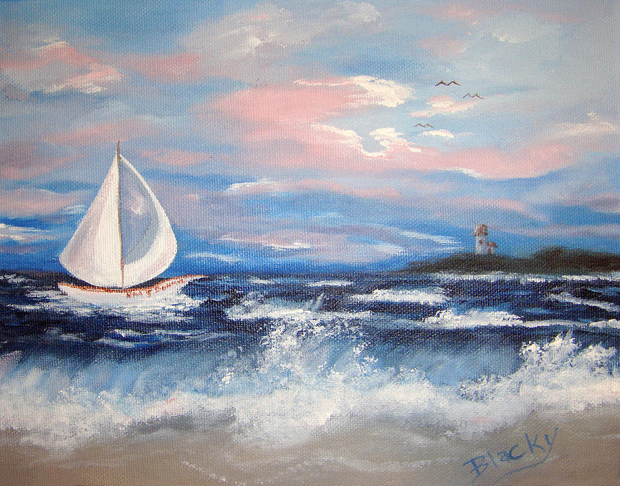 Sail Painting - Hms Bonnie by Donna Blackhall