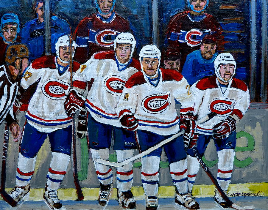 Hockey Art At Bell Center Montreal Painting  - Hockey Art At Bell Center Montreal Fine Art Print