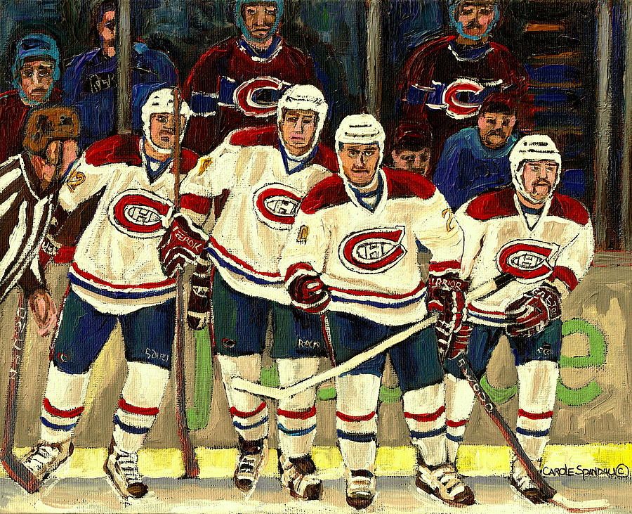 Hockey Art The Habs Fab Four Painting