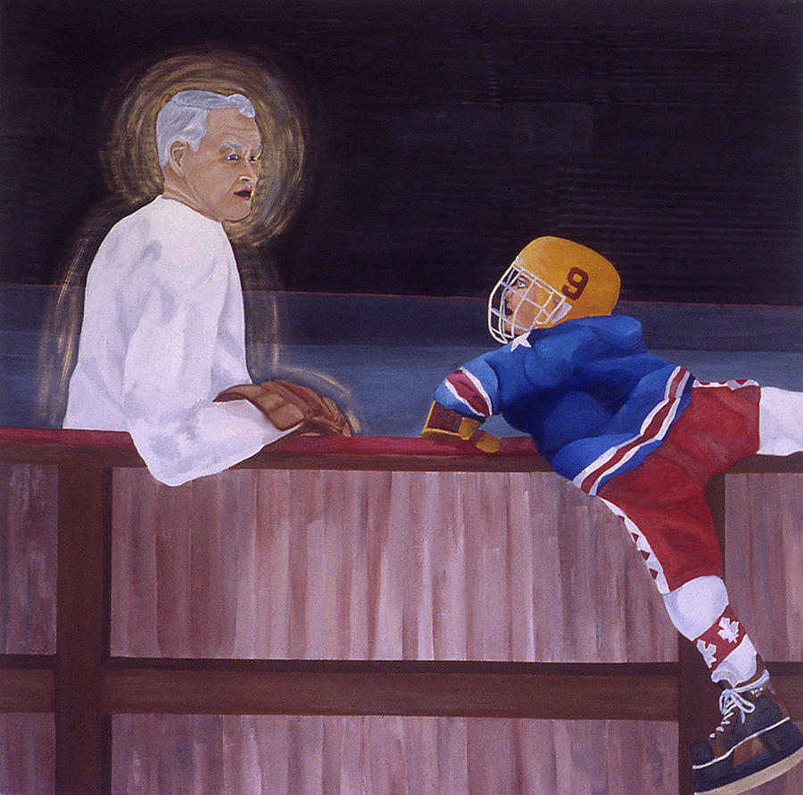 Hockey God Painting  - Hockey God Fine Art Print