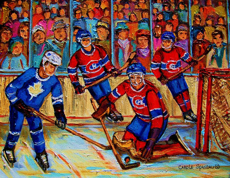 Hockey  Hero Painting  - Hockey  Hero Fine Art Print