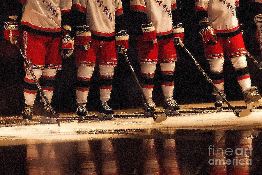 Hockey Reflection Photograph  - Hockey Reflection Fine Art Print