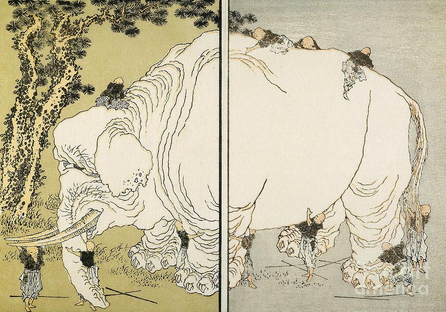 Hokusai: Elephant Photograph