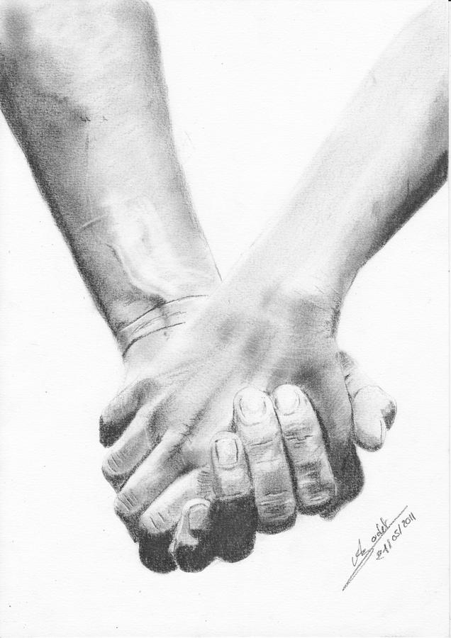 Holding Hands Love Drawing