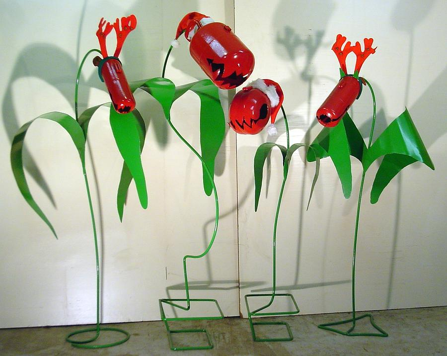 Holiday Flowers Sculpture