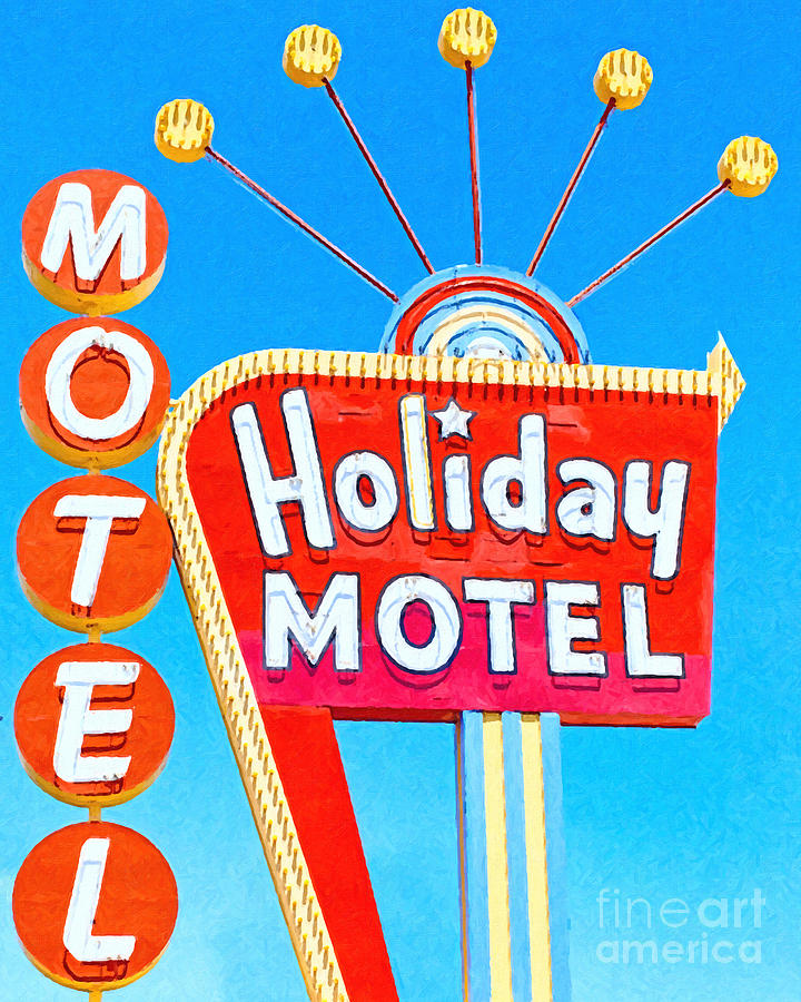 Holiday Motel Las Vegas Photograph