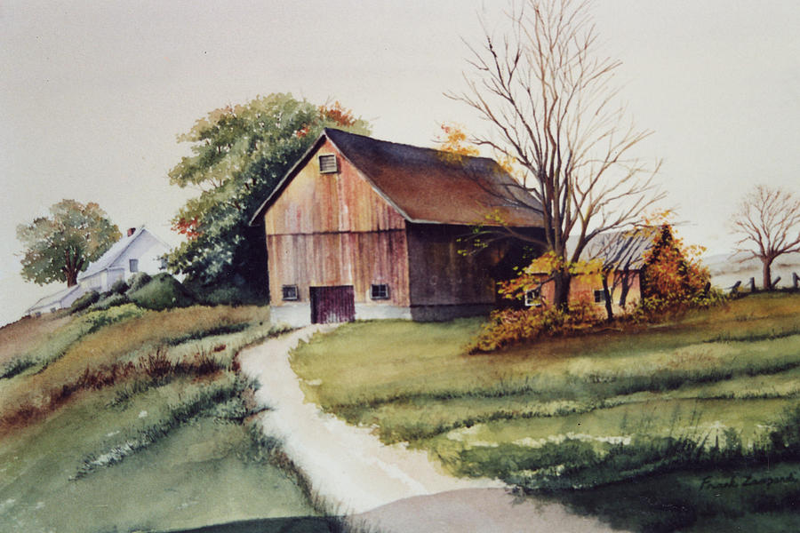 Old Barn Painting - Holland Patent by Frank Zampardi