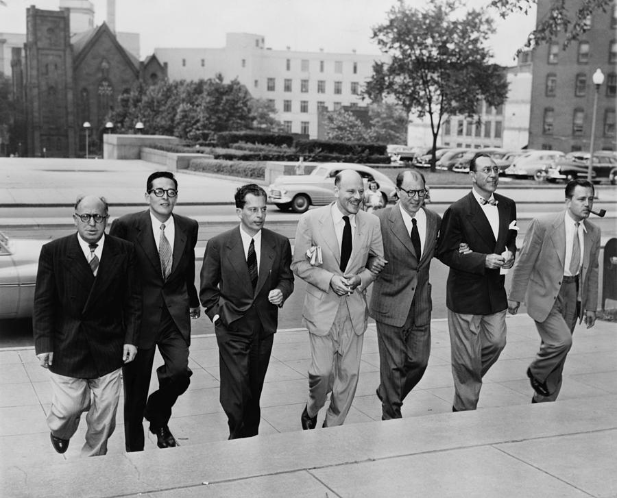 Hollywood Writers Go On Trial. Seven Photograph  - Hollywood Writers Go On Trial. Seven Fine Art Print