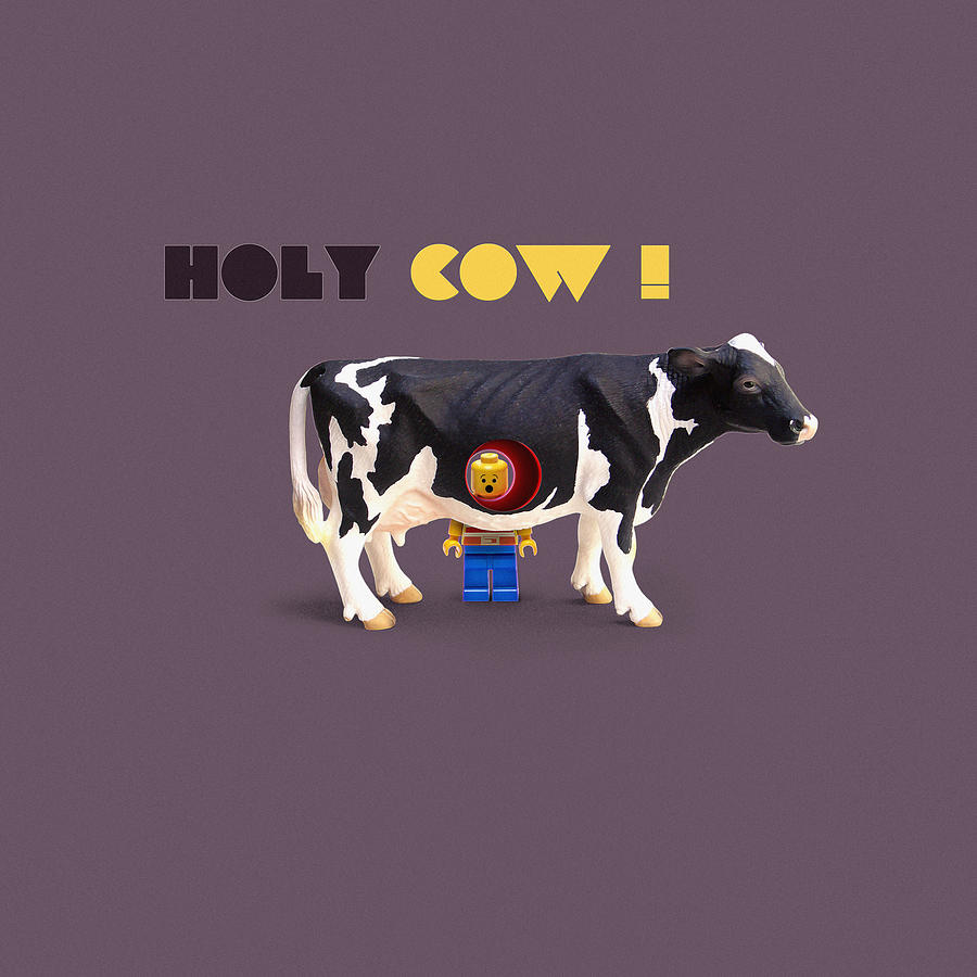 Holy Cow Art Digital Art  - Holy Cow Art Fine Art Print