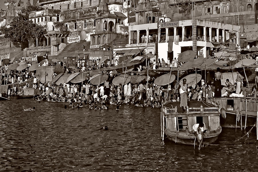 Holy Ganges Monochrome Photograph