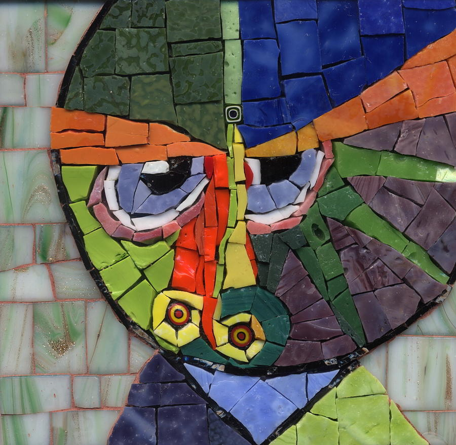 Homage To Klee - Fantasy Face No.4 Painting  - Homage To Klee - Fantasy Face No.4 Fine Art Print