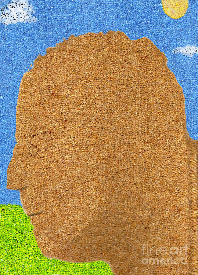 Homage To Seurat In Carpet Digital Art  - Homage To Seurat In Carpet Fine Art Print