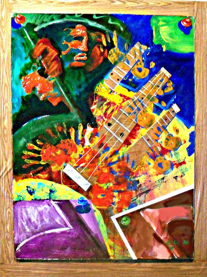 Hombre Con Guitarra Painting