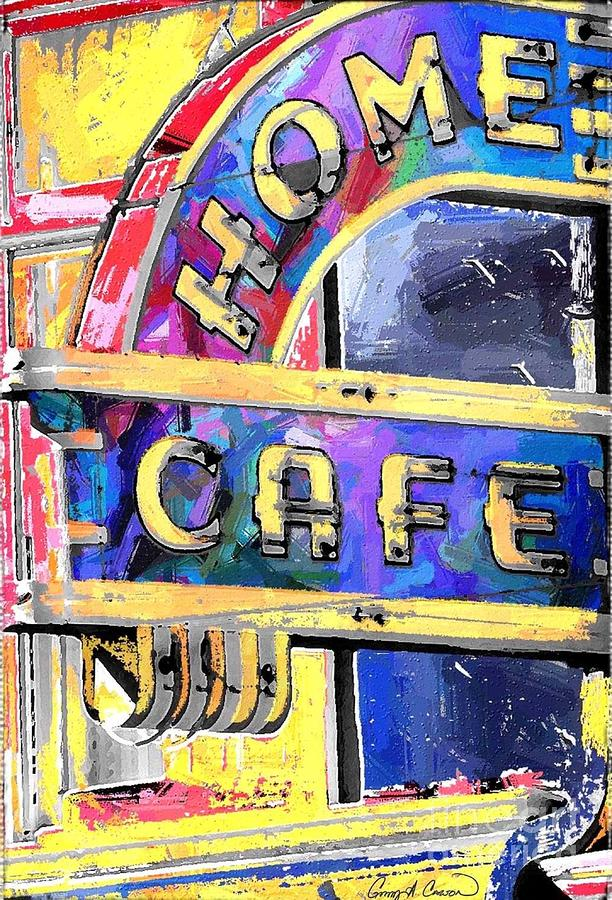Home Cafe Mixed Media  - Home Cafe Fine Art Print