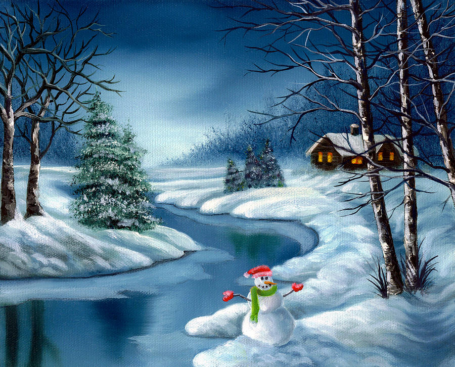 Home For The Holidays Painting  - Home For The Holidays Fine Art Print
