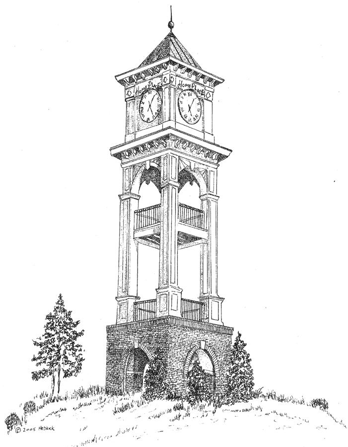 How To Draw Clock Tower