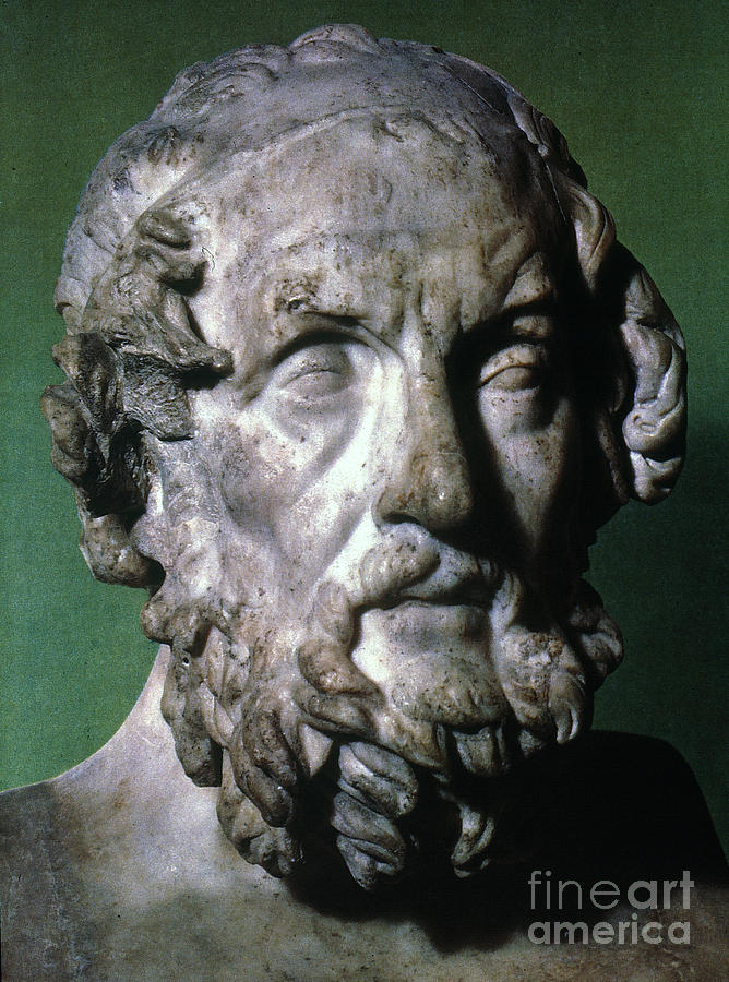 Homer (9th-8th Century B.c.) Photograph  - Homer (9th-8th Century B.c.) Fine Art Print