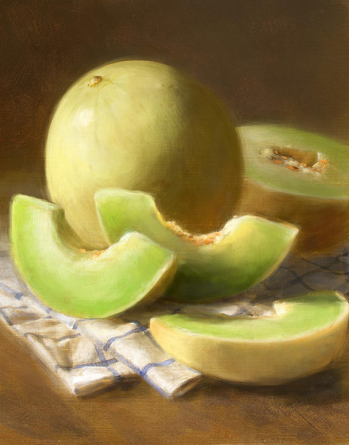 Honeydew Melons Painting  - Honeydew Melons Fine Art Print