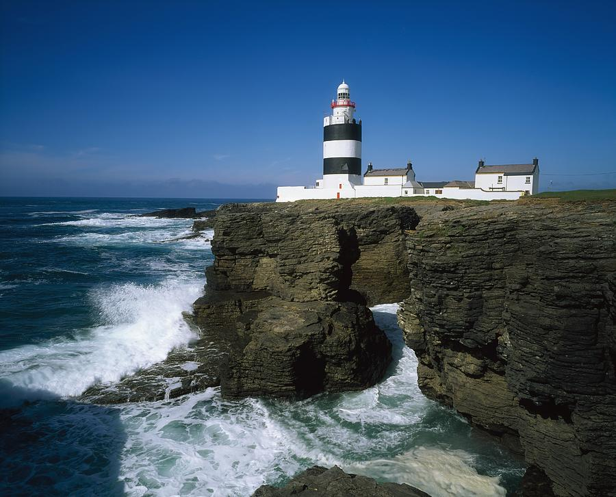 Black amp white photograph hook head lighthouse co wexford by the
